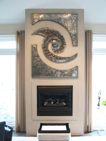 Custom Fireplace Mantel Artwork
